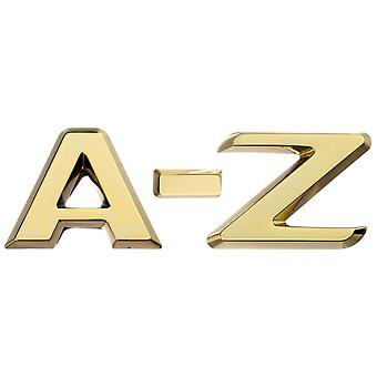 Luxbling car 3D chrome letters - gold A-Z