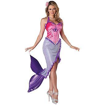 Beautiful Mermaid Princess Ariel Fairytale Storybook Women Costume