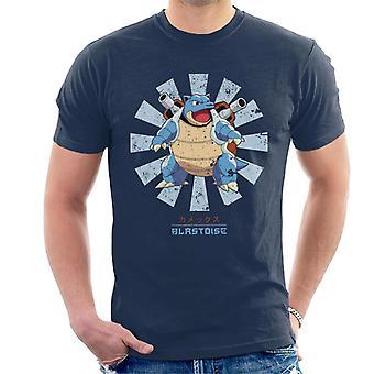Pokemon Blastoise Retro japoński mężczyzn T-Shirt