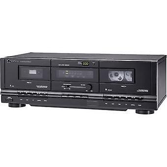 TP Renkforce-1000 Cassette deck preto Twin cassette deck