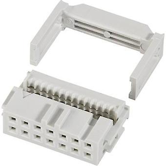 FCI-nastainen liitin + kanta helpotusta yhteystiedot välistys: 2.54 mm nastat lukumäärä: 64 nro rivien: 2 1 PCs()