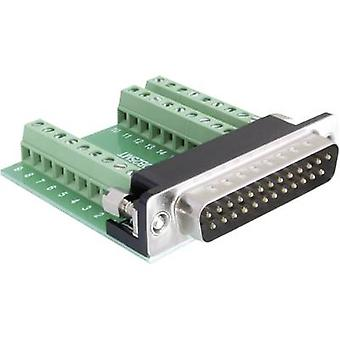 Delock 65318 D-SUB pin remsa 180 ° antal stift: 25, 27 1 dator