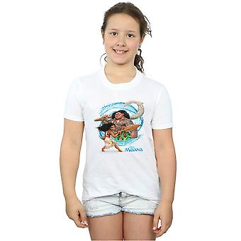 Disney Girls Moana ja Maui aalto t-paita