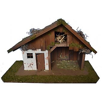 Crib Nativity scene wood Nativity stable HOSEA hand work for characters up to 12 cm