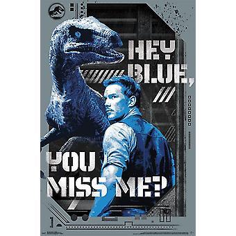 Mundo Jurásico 2 - Hey azul Poster Print