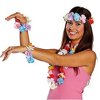 Hawaii instellen 3pcs bloem ketting bloem armband bloem hoofdband Hula accessoires