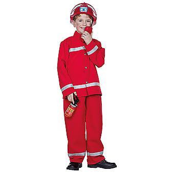 Bombeiro vermelho crianças menino bombeiro fantasia carnaval