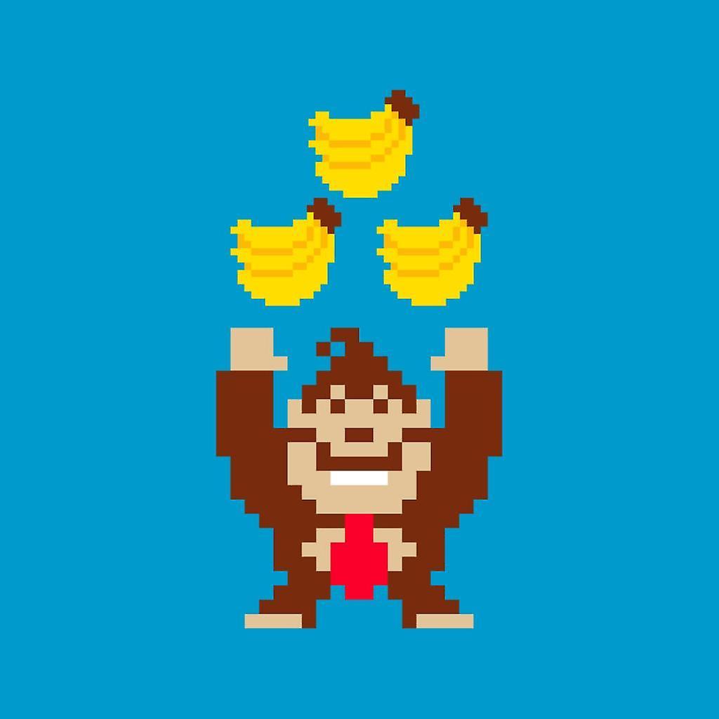 Bananas Pixel Art Donkey Kong Womens Sweatshirt