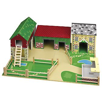 Tidlo The Wooden Oldfield Farm Play Set Farmyard Animals