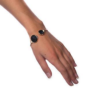 Armband zwart marmer-cirkel