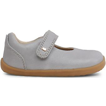 Bobux Step Up Girls Delight Shoes Silver Shimmer