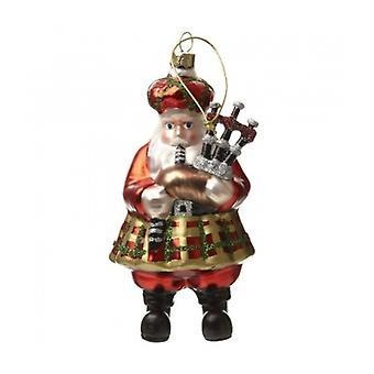 Heaven Sends Scottish Bagpipe Santa Christmas Decoration