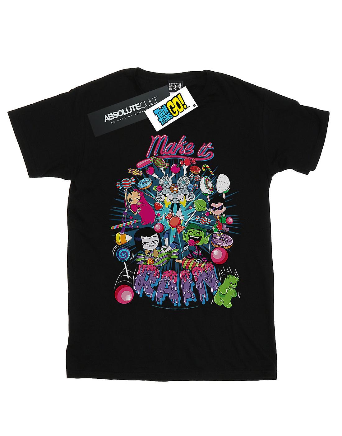 DC Comics Women's Teen Titans Go Make It Rain Boyfriend Fit T-Shirt