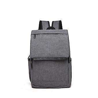 Modern Canvas backpack with top lid-grey