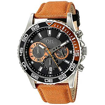 Carlo Monti CM509-124A-men's wristwatch, fabric, color: Orange