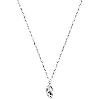 Bella Solit Oval Drop Necklace - Silver