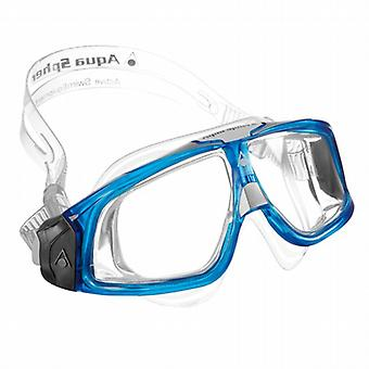 Aqua Sphere Seal 2.0 Swimming Goggle Mask - Clear Lenses - Blue