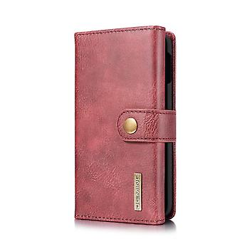 Dg. MING Samsung Galaxy S10e Split leather wallet Case-red