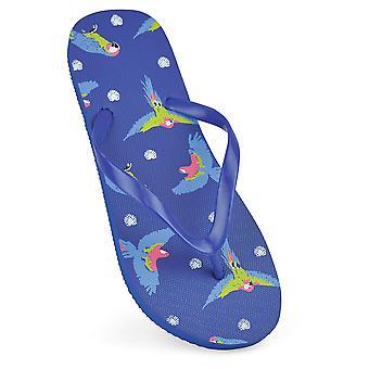 Sandrocks Womens/Ladies Parrot Flip Flops