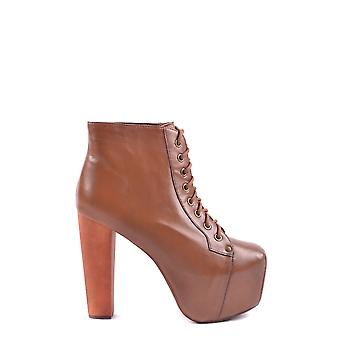 Jeffrey Campbell Ezbc132012 Dames's Brown Leather Ankle Boots