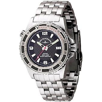 Zeno-watch mens watch professional diver automatic red 6427-s1-7
