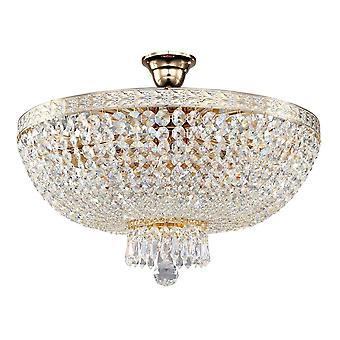Maytoni belysning Bella Diamant kristall taklampa, vitt guld