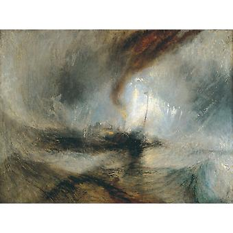 Snow Storm-Steam-Boat off a Harbour-S, J.M.W. Turner, 50x37cm