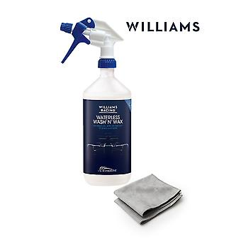 Rokit Williams Waterless Wash and Wax Starter kit 1L with 2 Microfibre cloths