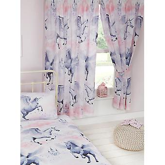 Stardust Unicorn Lined Curtains