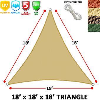 Modern Home Sail Shade Triangle (18' Sides)