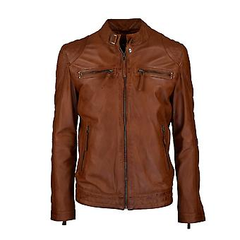 Men's leather jacket Toni