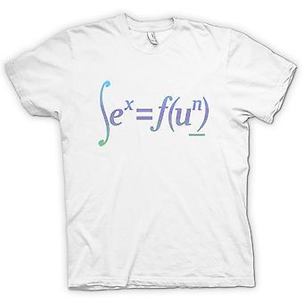 Mens T-shirt - Sex = Fun - Math Formula Design