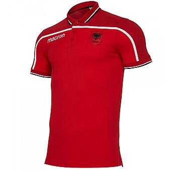 2019-2020 Albania Macron Polo Shirt (Red)
