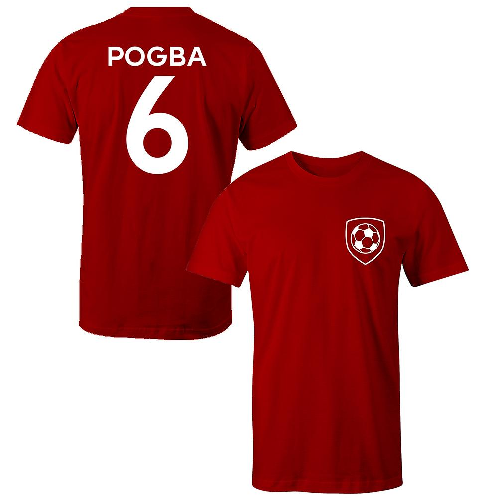 official photos abf92 fa298 Paul Pogba 6 Manchester United Style Player Kids T-Shirt
