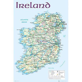 Irlande carte 2012 Maxi Poster 61x91.5cm