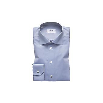 Eton Contemporary Long Sleeved Shirt Pale Blue