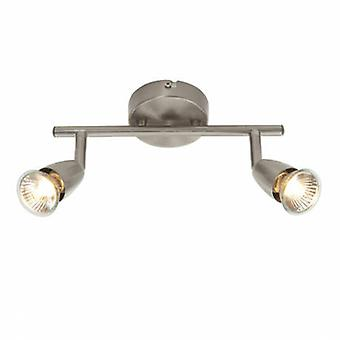 2 Light Spotlight Satin Nickel