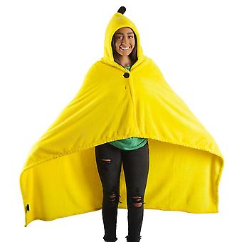 Blanket - Bananya - Hooded Banana Fleece Throw New bz6gyhcru