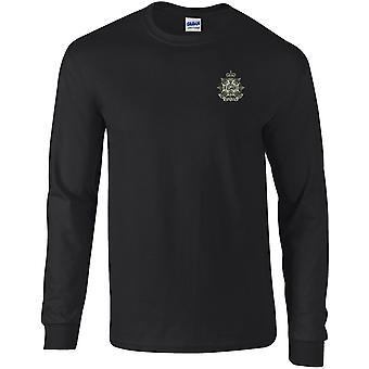 Border rykmentti-lisensoitu Britannian armeijan kirjailtu pitkähihainen T-paita