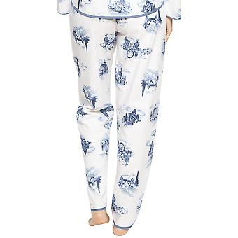 Cyberjammies 4237 Frauen's Harper white Mix London Print Baumwolle Pyjama Hose