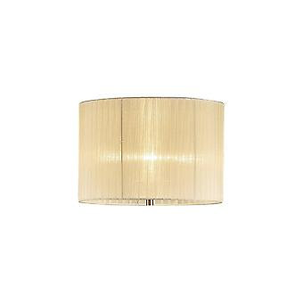 Diyas Florence Round Organza Shade Cream 380mm X 260mm, Suitable For Floor Lamp