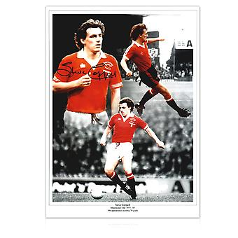 Steve Coppell Signed Manchester United Montage