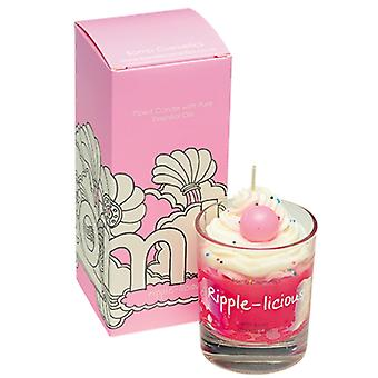 Bomb Cosmetics Piped Glass Candle - Ripple-Licious