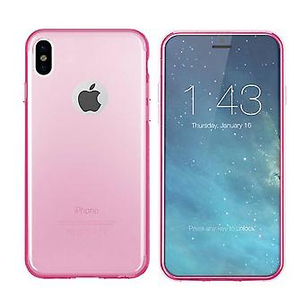 iPhone X und Xs Silikon Fall Transparent Pink - CoolSkin3T