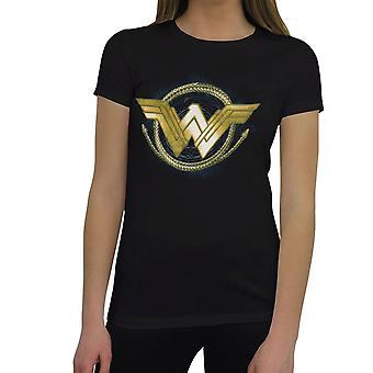 Wonder Woman Movie Golden Lasso Logo Women's T-Shirt