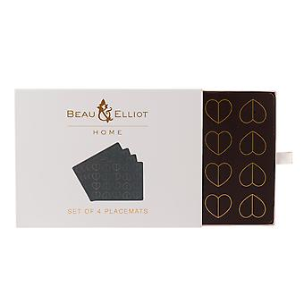 Beau & Elliot Dove Set of 4 Placemats