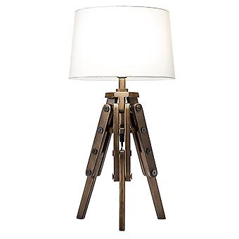 Modern Home Mariner Nautical Wooden Tripod Table Lamp