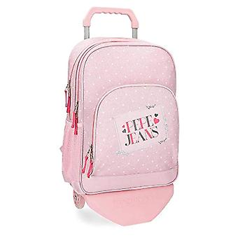 Pepe Jeans Olaia rosa ryggsäck 45 cm med vagn-dubbel fack