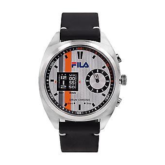 Fila Men's Watch Wristwatch DRUM ROLLER 38-844-003 Leather