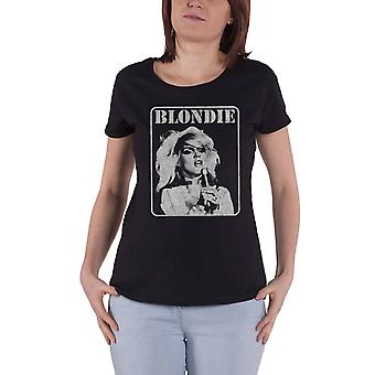 Blondie T Shirt Presente Poster Debbie Harry Official Womens Skinny Fit Black